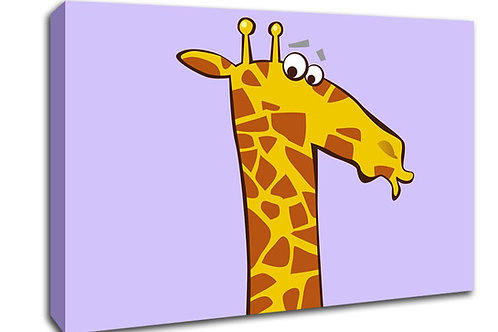 'Child's Giraffe ' Heated Canvas
