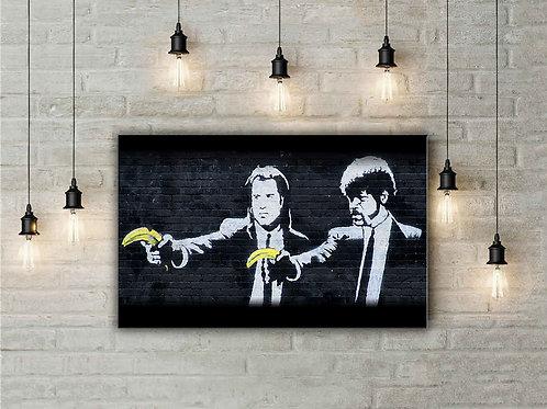 'Banksy Pulp Fiction' Heated Canvas