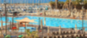 Pool and beach in Tel Aviv