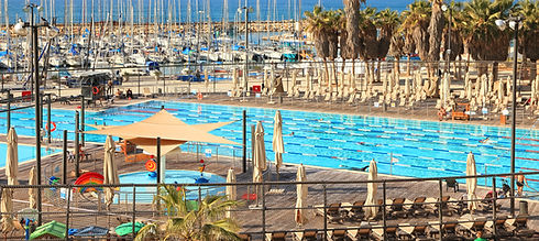 Pool and beach in Tel Aviv