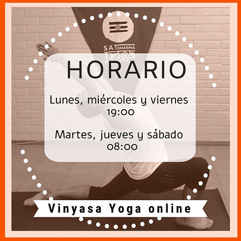 Horario yoga online