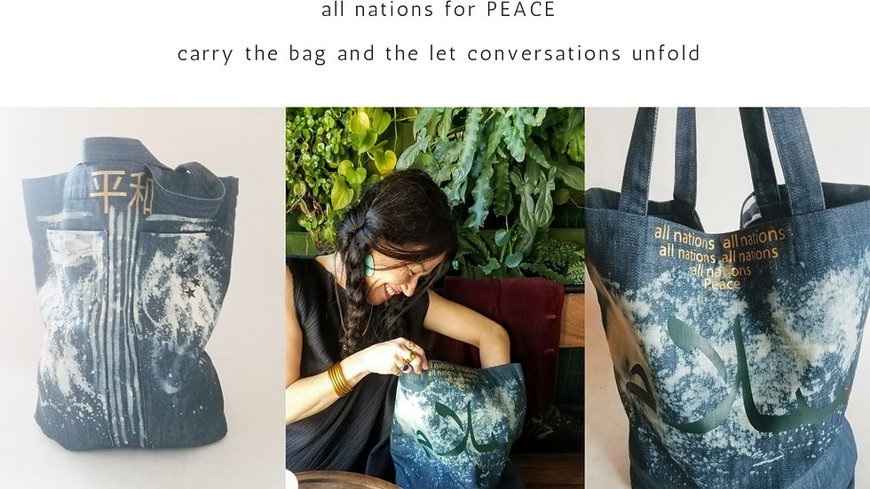 All Nations, Peace Denim Bag