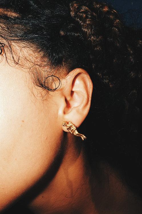 Amuleto Fé de Par Dourado