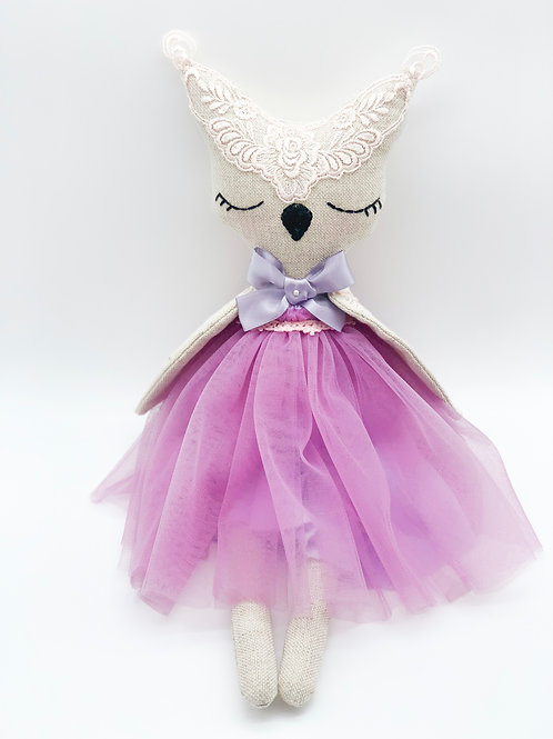 AURORA COLLECTION- Owl Purple Bow
