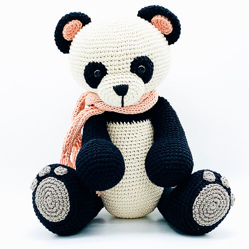 TEMBO Collection- Panda Bear- Peach