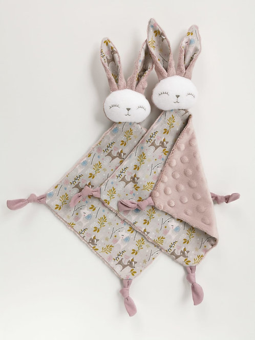 Mila Collection- baby comforter - pink fox