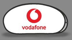 Vodafone White Tear Drops Banner