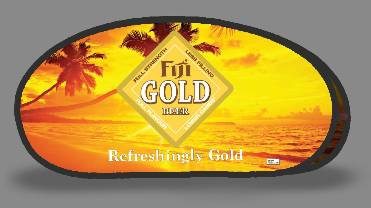 Fiji Gold Tear Drop Banner