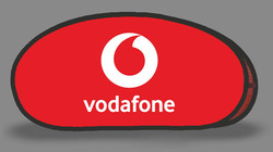 Vodafone Red Tear Drop Banner