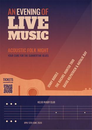 Music gig poster design