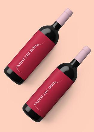 Bold wine bottle design