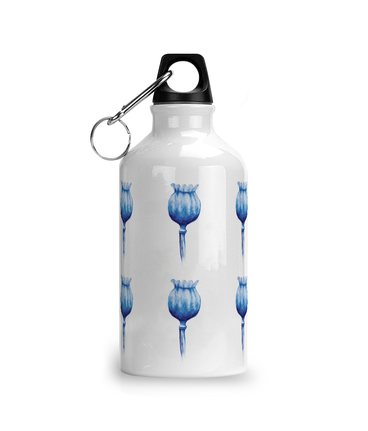 poppy pattern water bottle design