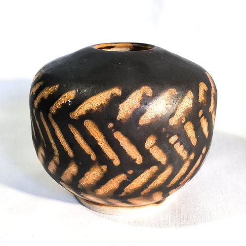 Dark woven jar