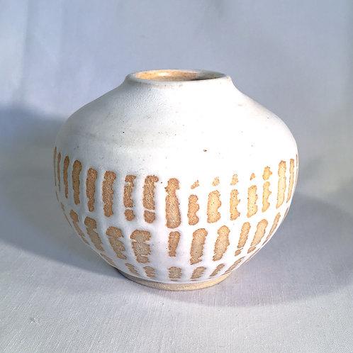 Woven glazed moon jar