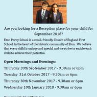 Open Days at Eton Porny School