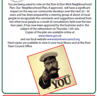The Neighbourhood Plan - thanks for voting!