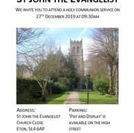A brief history of Saint John the Evangelist, Eton