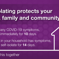 A reminder about Covid Self-isolation..