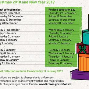 Xmas Rubbish Collection Schedule