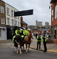 Police out in force