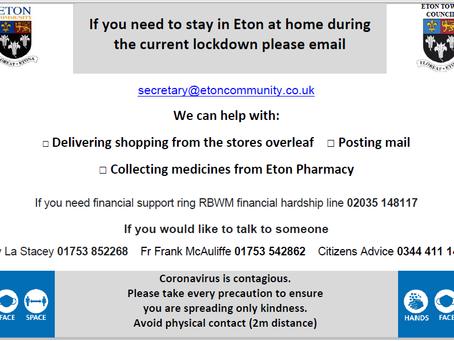 Eton Coronavirus Support