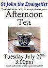 Tea at St John the Evangelist