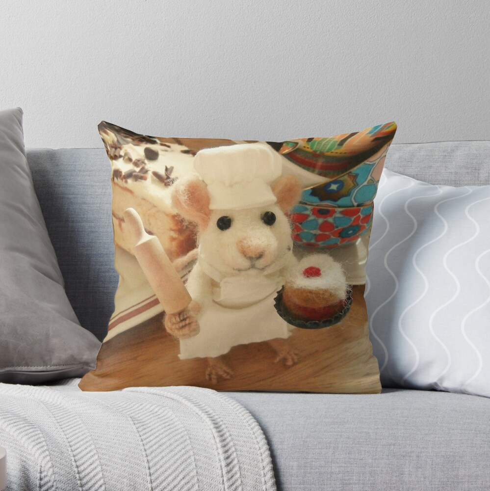 Chef Mouse Throw Pillow