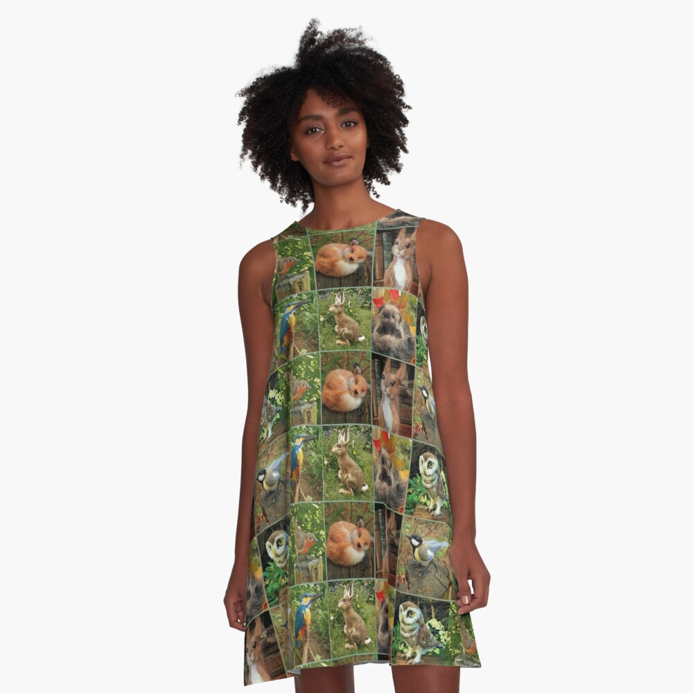 Collage A-Line Dress
