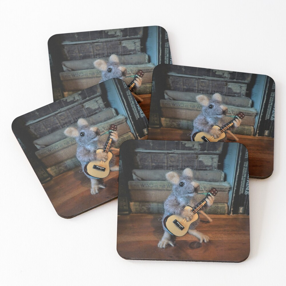 Guitar Mouse Coasters (set-of-4)