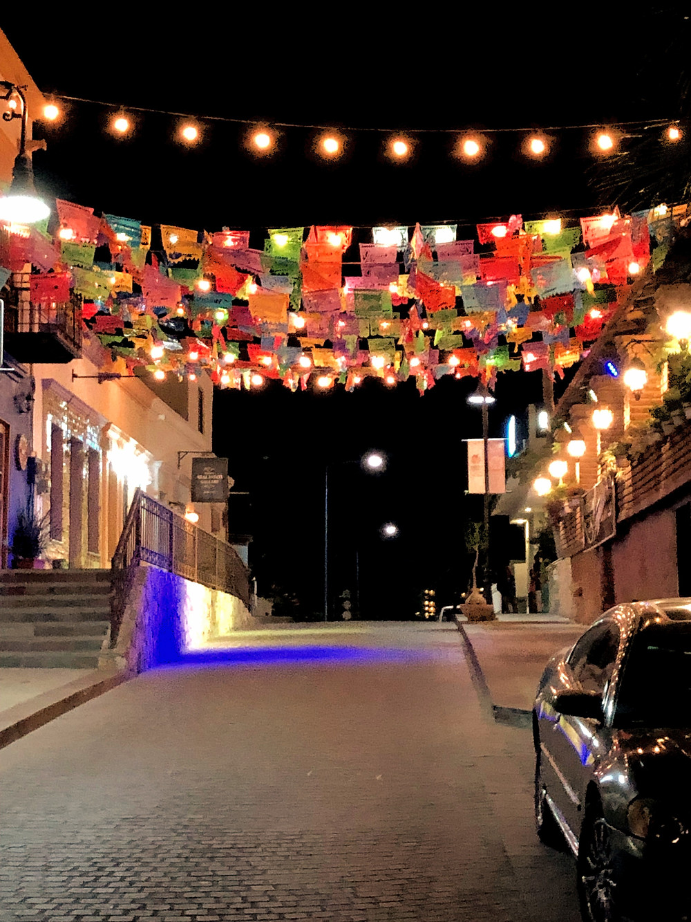 cabo, cabo san lucas, arts district, san jose del cabo, mexian flags, cobblestone street
