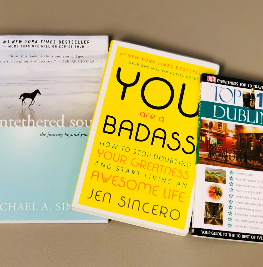 Travel books for the plane
