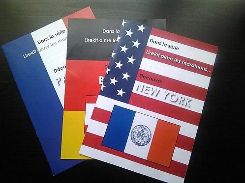 Lot de trois brochures