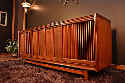 Mid Century Bluetooth Restored Penncrest Stereo Console with Turntable
