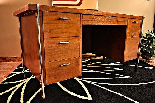 Mid Century Paul McCobb for Lane Rosewood Walnut & Chrome Desk