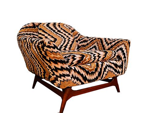 1960's Mid Century Pearsall Style Lounge Chair Jack Lenor Larsen