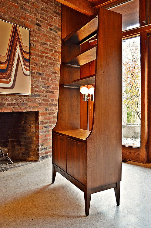 Small Mid Century Danish Style Room Divider / Bookcase