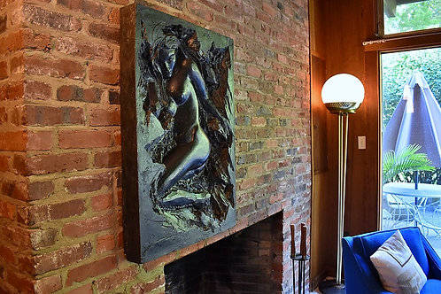 RESERVED 1971 Finesse Originals Cast Resin Nude Female Wall Art