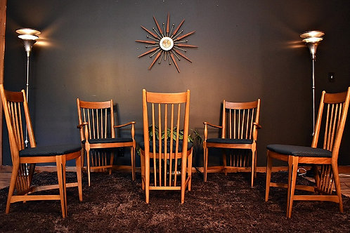 Mid Century Frank Lloyd Wright Style Dining Chairs
