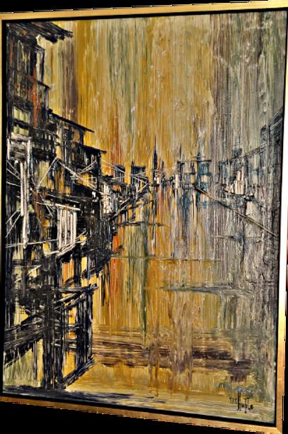 Mid Century Original Van Hoople Oil Painting