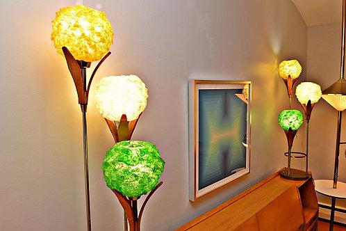 Mid Century Danish Style Flower lamps