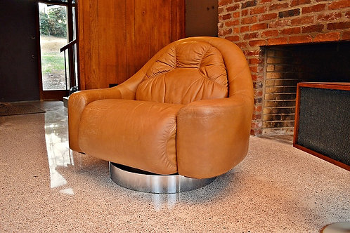 Mid Century Guido Faleschini Swivel Lounge Chair by Mariani for Pace