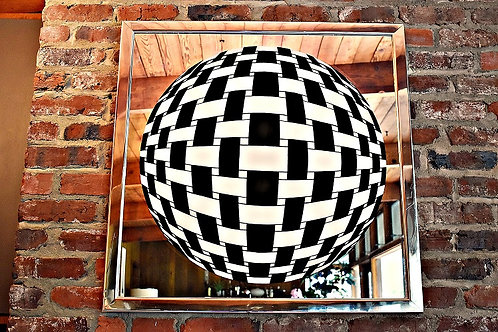 Mid Century Greg Copeland Style Op Art Mirror