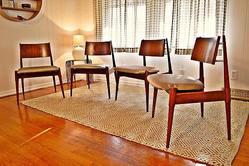 Mid Century Danish Modern Floating Dining Chairs