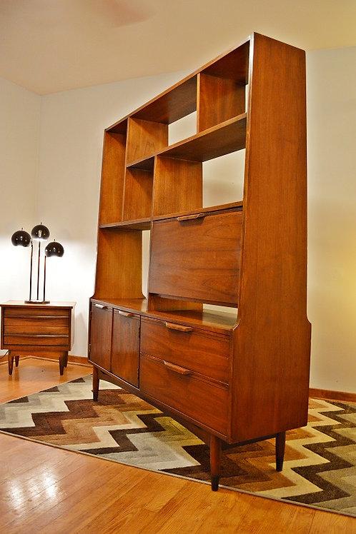 Mid Century Large Danish Solid Wood Room Divider