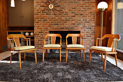 Mid Century Tomlinson Sophisticate Dining Chairs / Arm Chairs - Set of 4