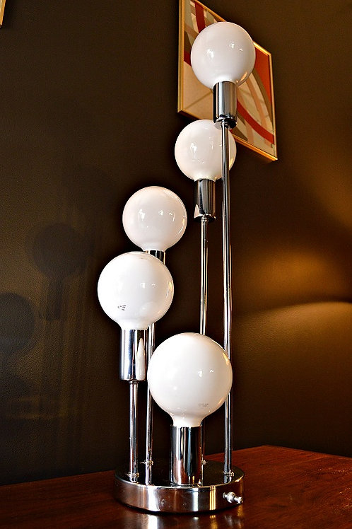 Mid Century Sonneman Style Waterfall Space Age Table Lamp