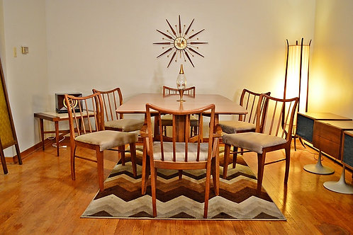 Mid Century Gateleg Drop leaf Dining Set - Table & 6 Chairs