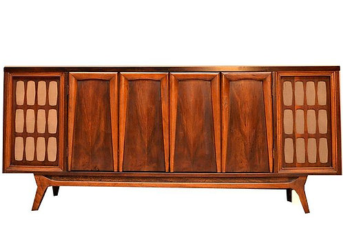 1960's Mid Century Entertainment Stereo Bluetooth Credenza
