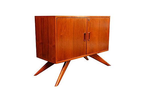 Mid Century Danish Style Teak Small Credenza / Liquor Cabinet