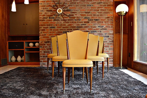 French Art Deco Dining Chairs - Set of 5